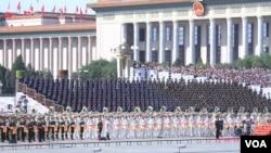 9月3日,北京舉行盛大抗戰閱兵(美國之音東方拍攝)