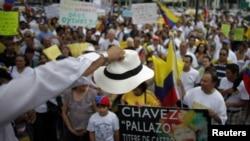 Venezolanos residentes en Miami en una de sus habituales protestas contra el presidente Chávez.