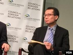 国际金融公司首席执行官蔡金勇 (美国之音记者莉雅拍摄)