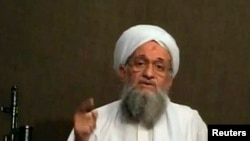 Al-Qaida leader Ayman al-Zawahri is seen speaking from an unknown location, in this still image taken from video June 8, 2011.