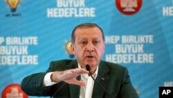 Shugaban Turkiya Recep Tayyip Erdogan