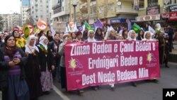 ڕێـپـێوانێـک دژی توندوتیژی بهرامبهر به ژنان له دیاربهکر سـازدهکرێت