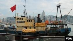保釣船啟豐二號返回香港