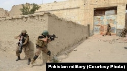 In undated photo, Pakistani troops have raided and searched suspected militant places in North Waziristan during Zarb-e-Azb counter-militancy operations.