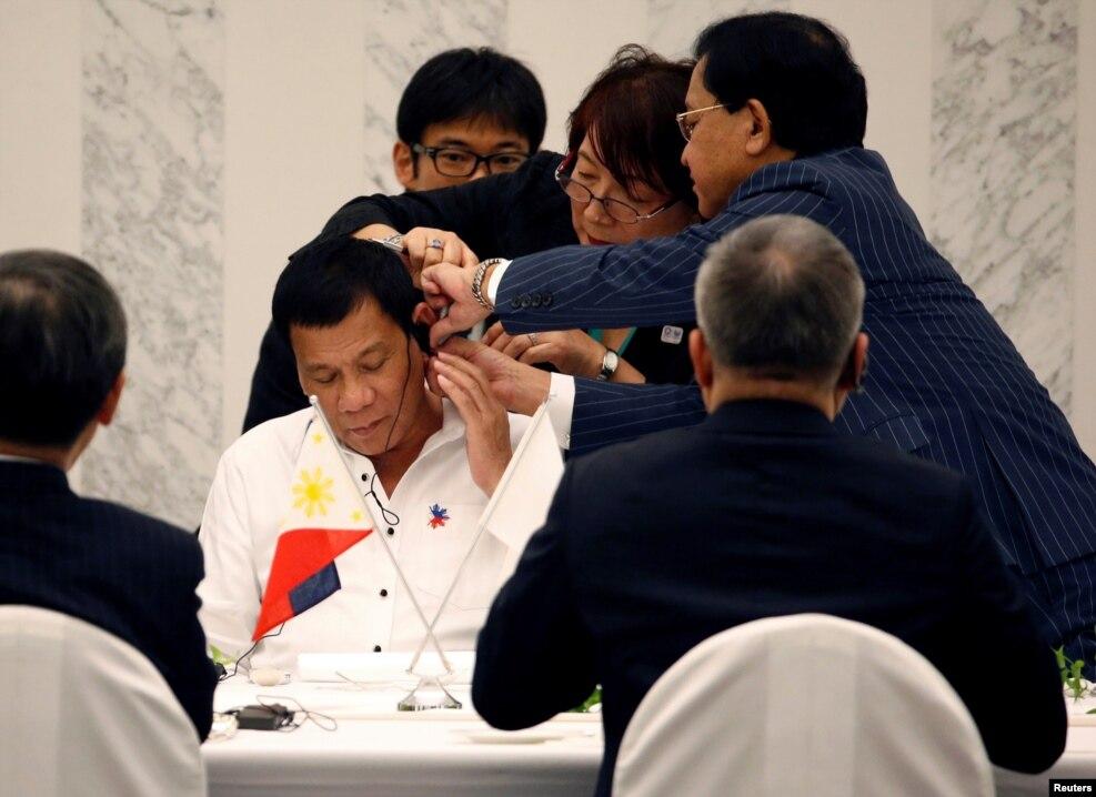 Yaponiya - Filippin prezidenti Rodriho Duterte Tokioda biznes liderləri görüşür