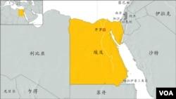 埃及地理位置图