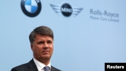 FILE - Harald Krueger, Chief Executive of German luxury carmaker BMW in Munich, southern Germany.