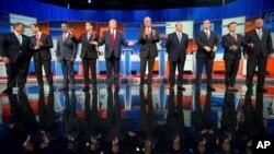'Yan Republican goma da suka shiga muhawarar farko