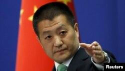 루캉 중국 외교부 대변인. (자료사진)