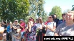 Во время прощания с Александром Вихором. Photo: svoboda.org (RFE/RL)