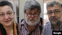 از راست به چپ: ارول اوندراوغلو، شبنم فینجانجی، احمد نسین