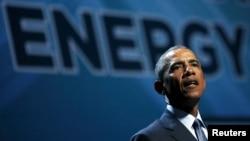 2015年8月24日美国总统奥巴马就清洁能源问题在拉斯维加斯发表讲话。