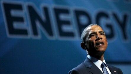 Tổng thống Mỹ Barack Obama phát biểu tại Hội nghị Thượng đỉnh Năng lượng Sạch Quốc gia ở thành phố Las Vegas, bang Nevada, ngày 24 tháng 8, 2015.