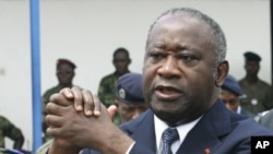 Former Ivory Coast President Laurent Gbagbo, Abidjan, Nov. 2003 (file photo).