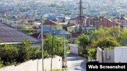 Bakı ətrafında son illərdə tikilmiş sənədsiz evlər