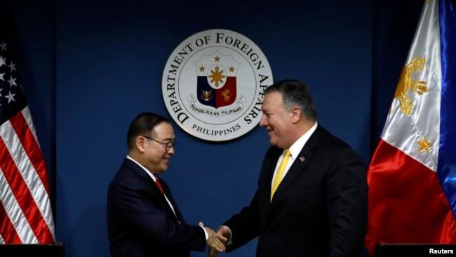 蓬佩奥:若菲律宾在南中国海受攻击 美国将依条约采取行动