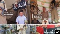 Quatre otages français enlevés en septembre 2010 au Niger (photo publiée par AQMI le 27 avril 2011)