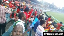 Part of the crowd that watched the match, which included Zimbabweans living in Australia.