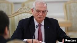 Жозеп Борель на переговорах у Москві 5 лютого 2021 р.