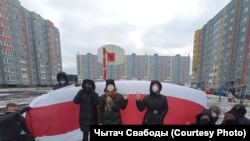 Belarus - Protest rallies actions marches in yards and neighborhoods, Minsk, 27Dec2020