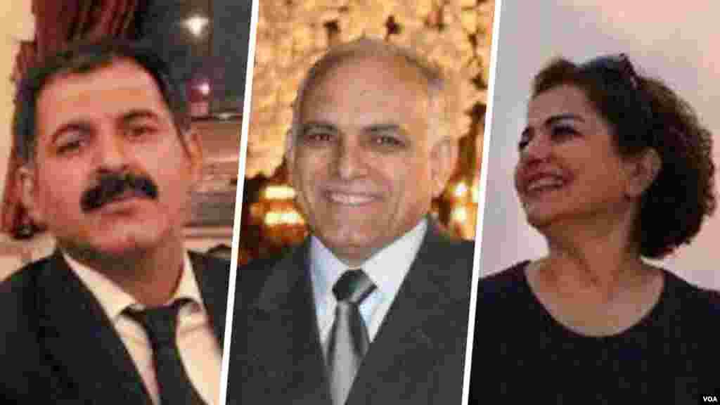 انتقال دو شهروند بهایی به زندان یزد و بازداشت یک بهایی دیگر در تهران | از سمت راست: افسانه امامی، مهران بندی امیرآبادی و مهران اسلامی امیرآبادی