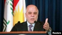 Thủ tướng Iraq nói chuyện tại một cuộc họp báo