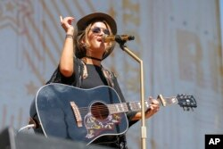 Maren Morris performs at the CMA Music Festival at the Chevrolet Riverfront Stage, June 9, 2016, in Nashville, Tennessee.