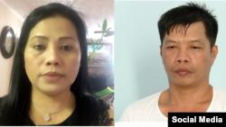 Chị Nguyễn Thị Mỹ Phượng (trái) và em trai Nguyễn Hữu Tấn quá cố (Ảnh: Vietnam Advocacy Day Facebook và Báo Vĩnh Long)
