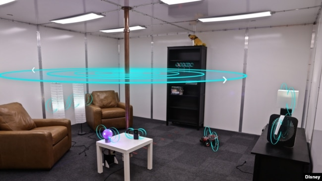 the walt disney company says this room it built can wirelessly power and charge any devices