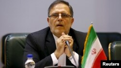 FILE - Valiollah Seif, governor of Iran's central bank, Aug. 23, 2015.