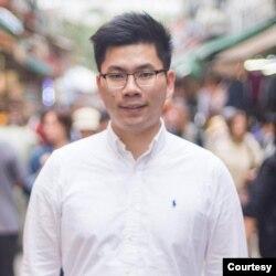 香港大學學生會前會長郭永健。(郭永健臉書圖片)