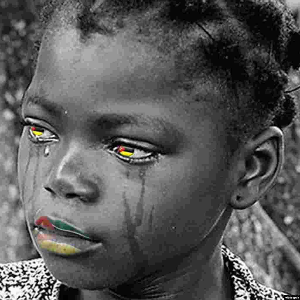 Foto está a circular no Facebook no apelo à paz em Moçambique.