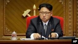 FILE - North Korean leader Kim Jong Un listens during the party congress in Pyongyang, North Korea.