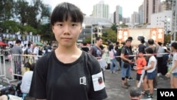 香港浸會大學社工系學生梁同學 (美國之音湯惠芸拍攝)