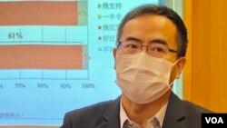 """香港教育專業人員協會會長馮偉華表示,新選舉制度對民主派的篩選""""關卡重重"""",擔心可能要向親建制選委""""跪求""""提名。(美國之音 湯惠芸)"""
