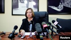 Cuba's Ambassador to Canada Josefina Vidal talks during a news conference in Havana, Cuba, Jan. 9, 2018.