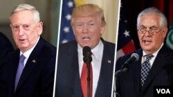 وزیر خارجه آمریکا، رئیس جمهوری و وزیر دفاع از فعالیت های تروریستی ایران انتقاد کرده اند.