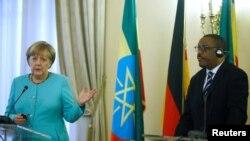 Chaansilaritti Jarman, Angelaa Merkel fi Mummicha ministira Itoophiyaa Haylamaariyam Dasaleny