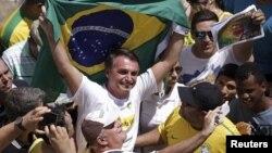 Jair Bolsonaro em protesto contra Dilma Roussef (Foto de Arquivo)