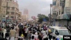 Suasana di Sana'a, Yaman, terus memburuk dengan ledakan dan pemberontakan (19/9).