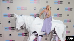 Lady Gaga arrives for the 2013 American Music Awards in Los Angeles, California last Sunday