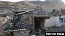 국제적십자사가 최근 웹사이트에 공개한 함경북도 무산군의 수해 피해 현장 사진.