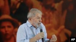 Lula da Silva fala depois da condenação