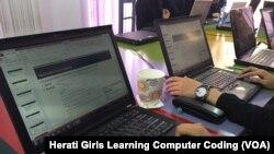 در گذشته، مردان در افغانستان بیشتر مصروف کود نویسی کمپیوتر بودند