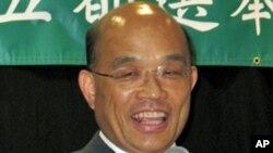 台灣民進黨新任黨主席蘇貞昌(資料圖片)