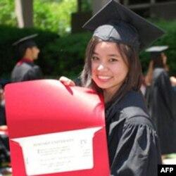 Isabella Nga Lại tốt nghiệp hạng ưu trường đại học Harvard