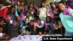 High school girls from different African countries and the United States joined together to study the STEAM fields.