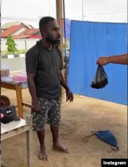 Steven Yadohamang. (Foto:video screenshot/IG:ahmadsahroni88)