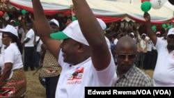 Pierre Nkurunziza, président sortant du Burundi en campagne