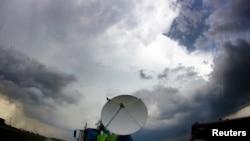 Kanzasda ishlayotgan Doppler radari. 19-may, 2013.